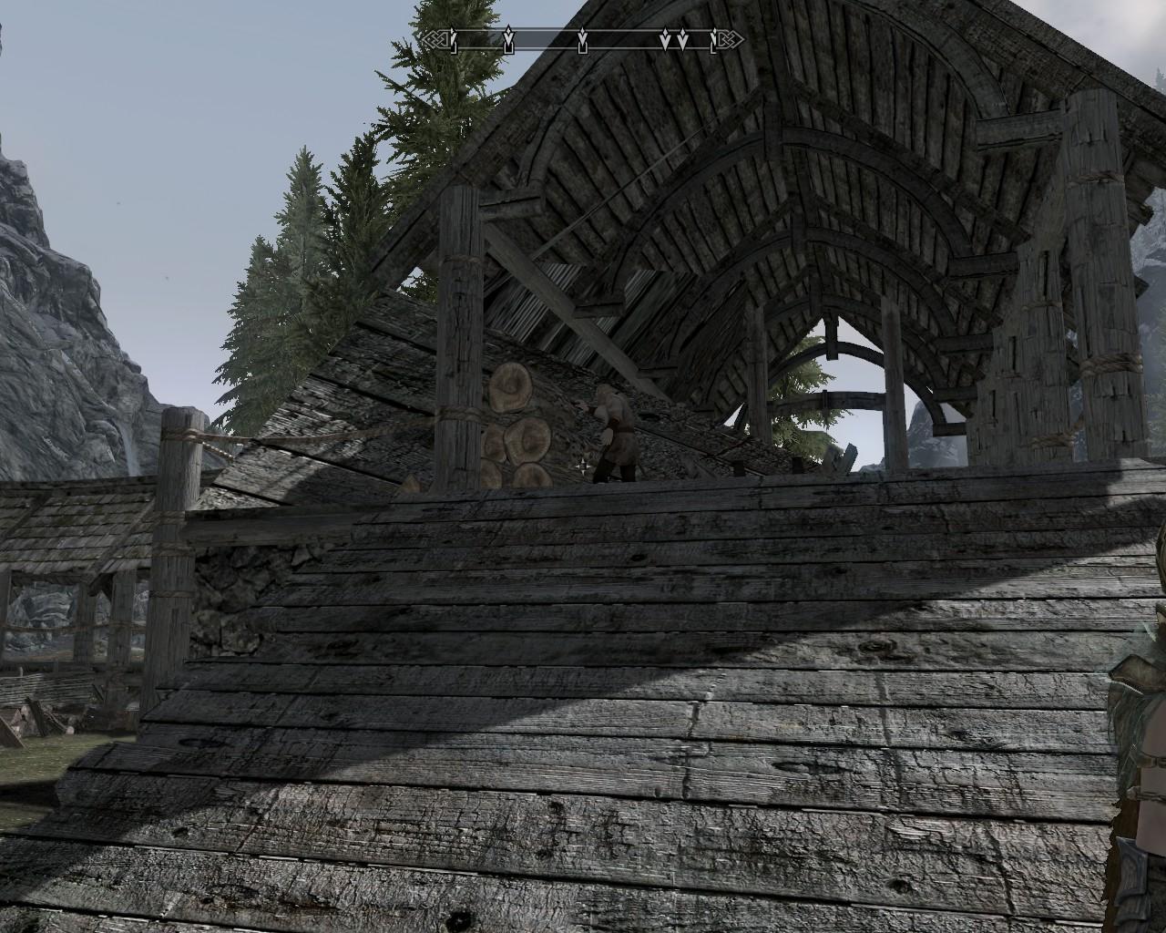 Graphics glitch at Riverwood mill 1
