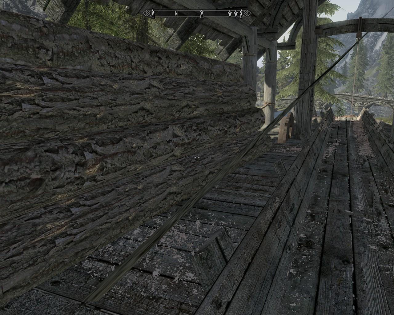 Graphics glitch at Riverwood mill 2
