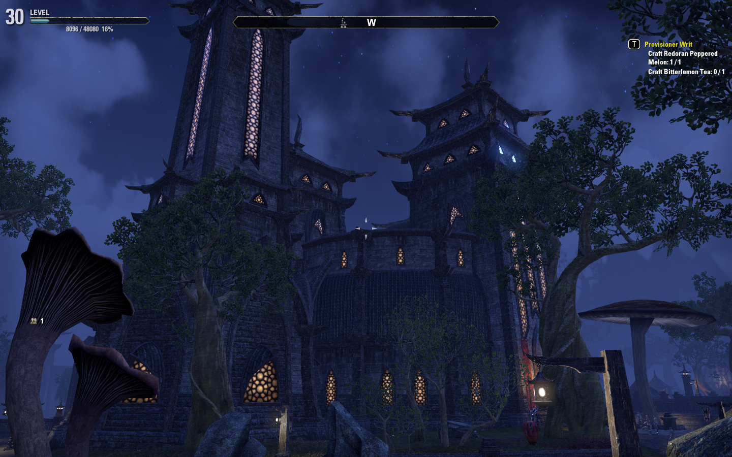 Mournhold Central City at Night