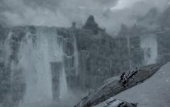 Immense Glacier Falls
