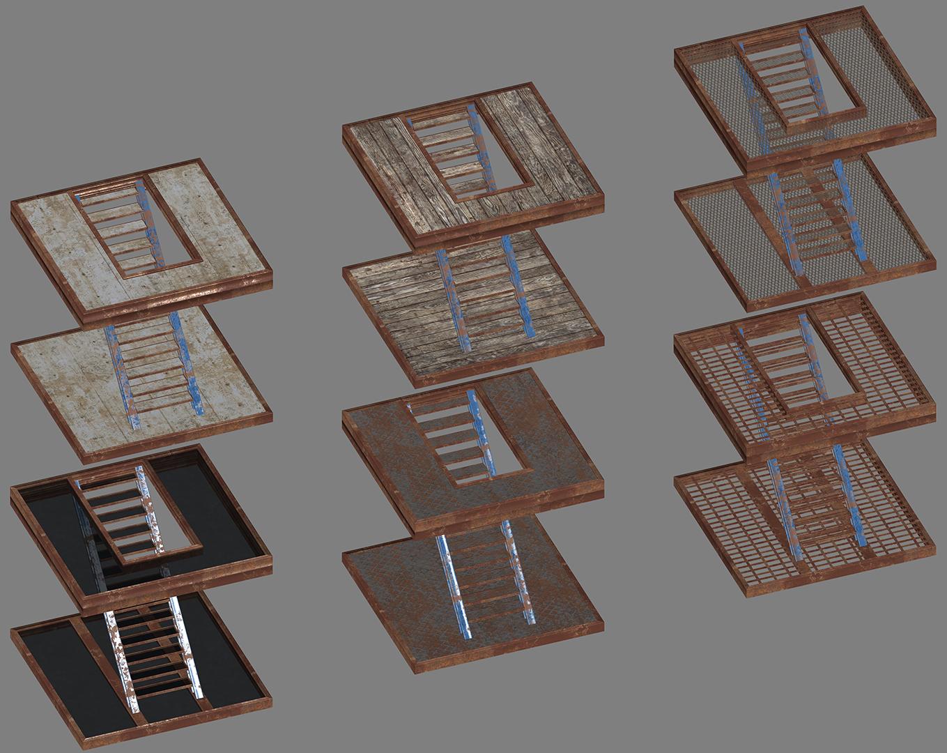 Wood Metal Concrete Workshop Overhaul WIP - Staircases