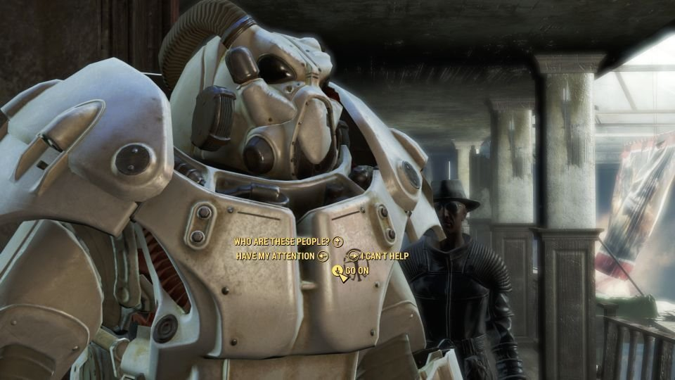 Meeting Preston after the main quest was completed.
