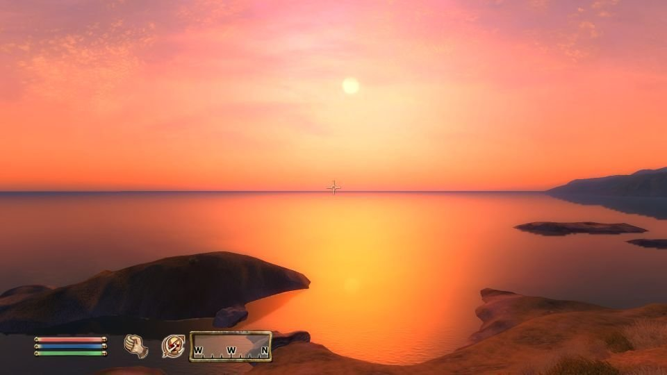Oblivion Sunset - North of Anvil.