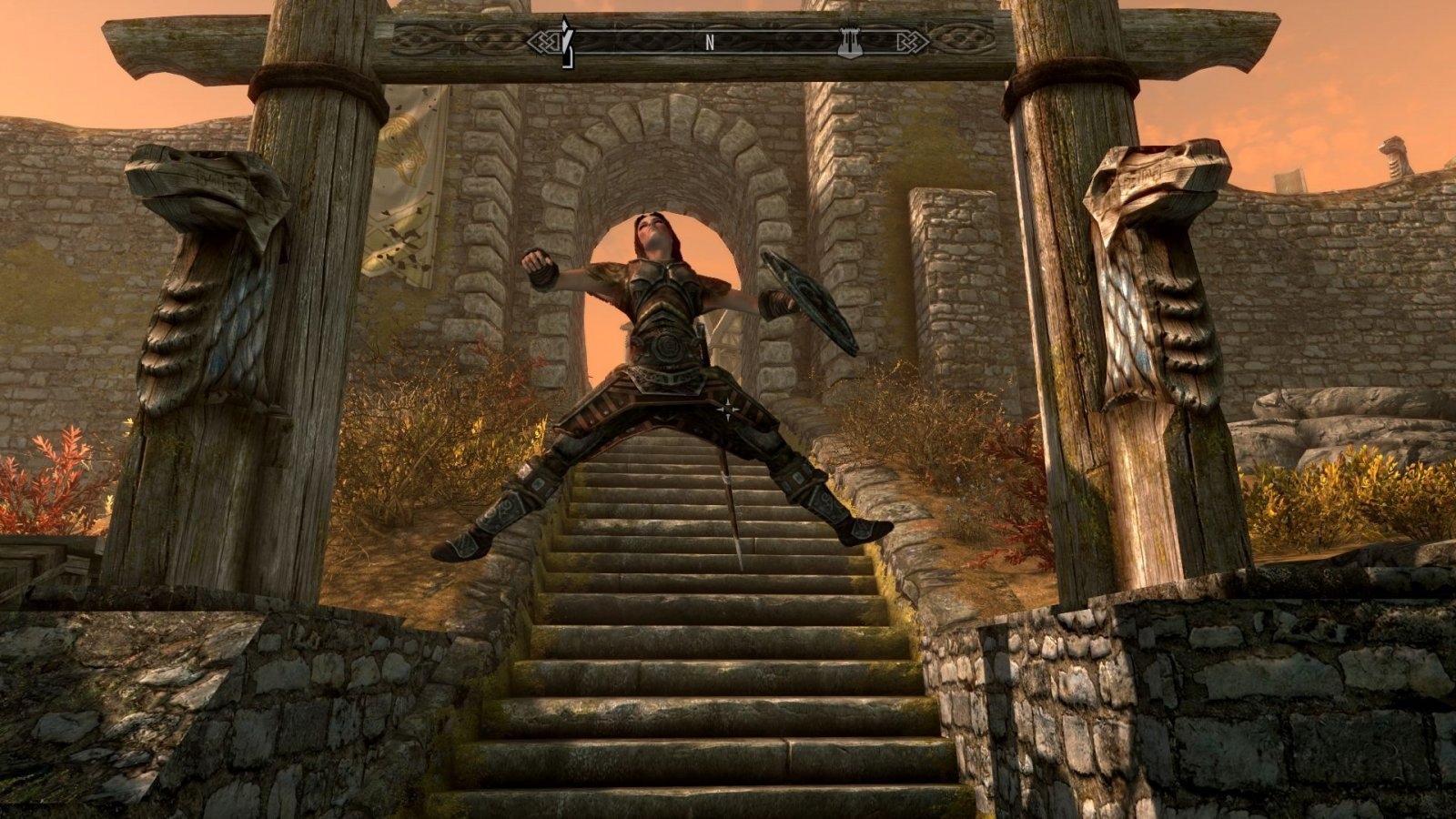 Lydia jumps for joy.
